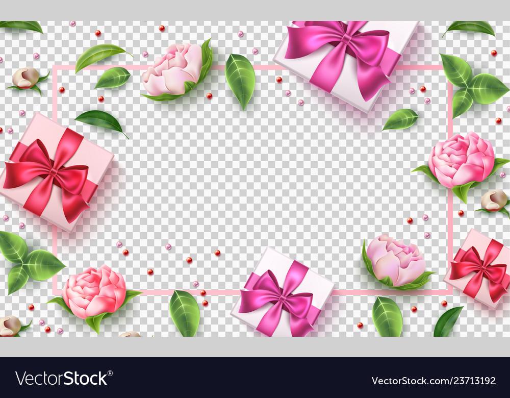 Valentine day rose flower present box
