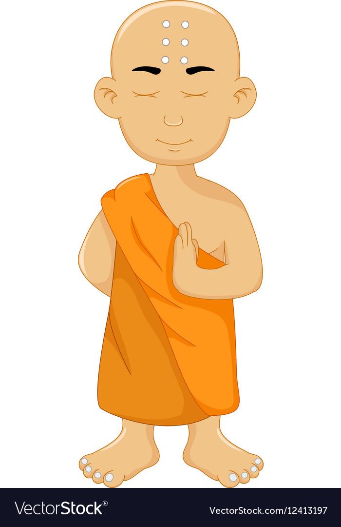 Cute monk cartoon for you design