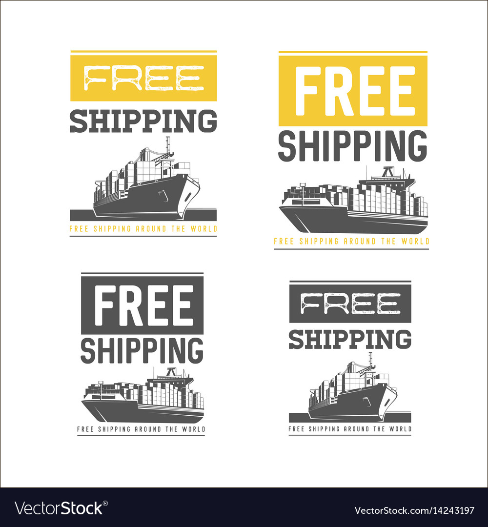 Free shipping design template shipping and
