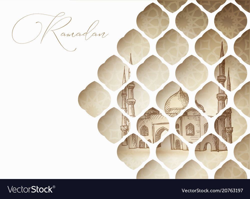 Greeting card invitation for muslim holiday