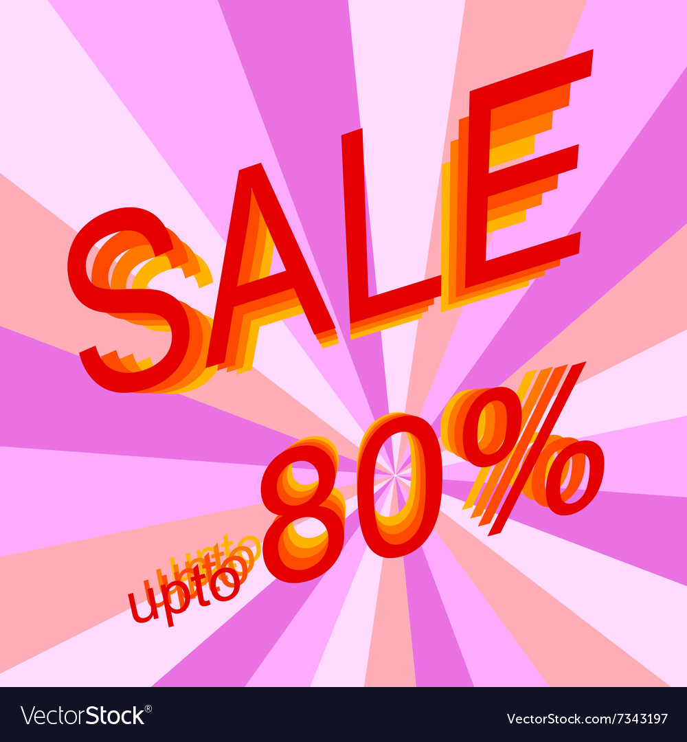 Sale 80 vector image