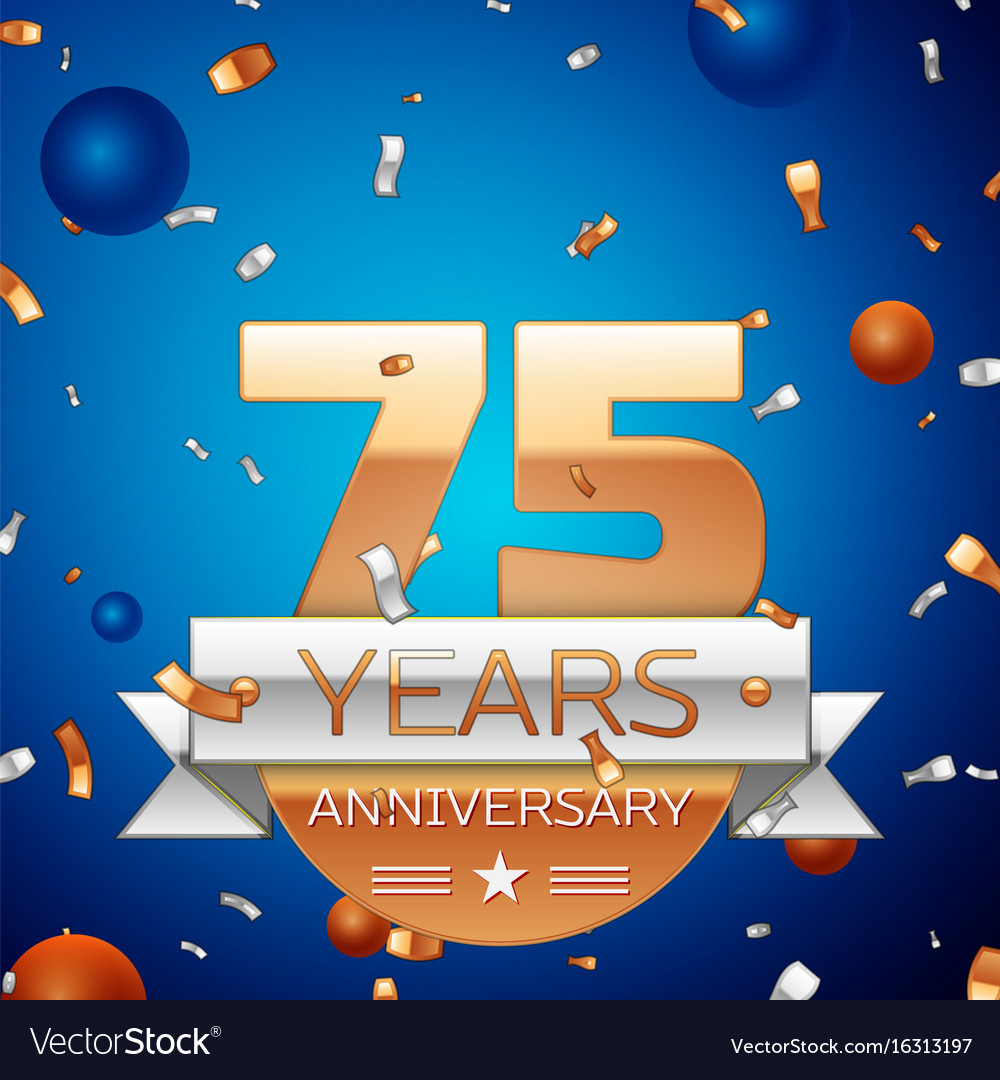 Seventy five years anniversary celebration design
