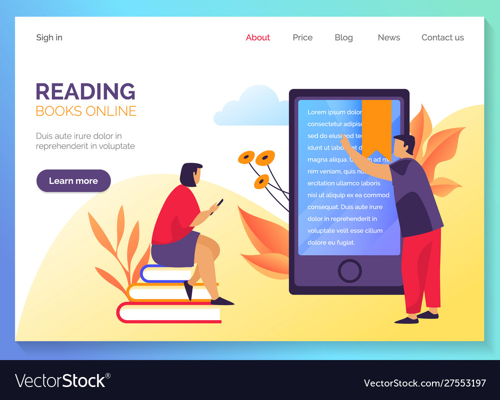 Web banner for internet bookstore online library