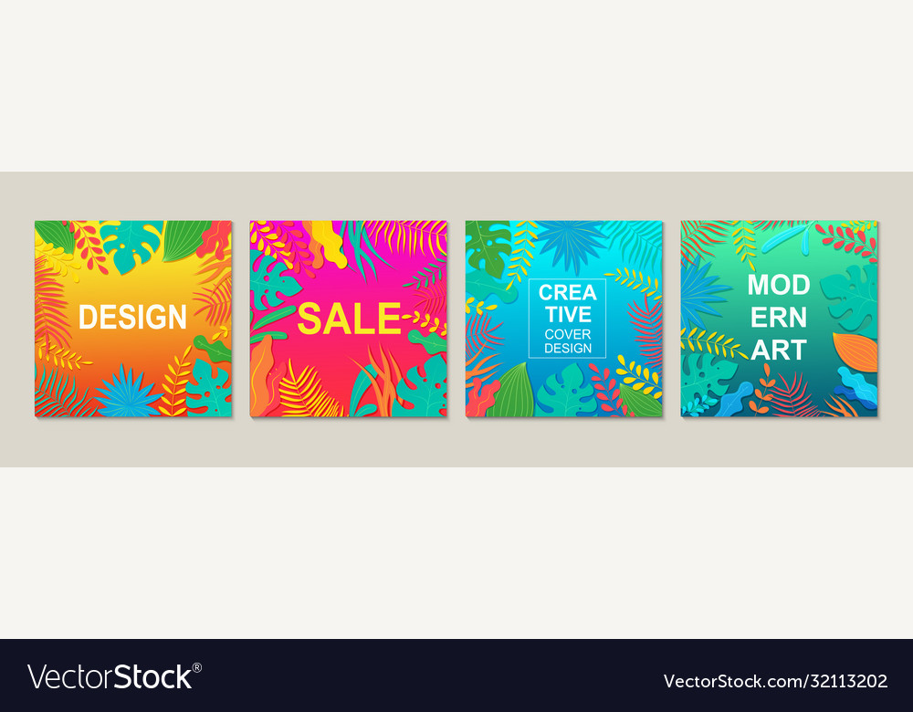 Abstract modern square design templates