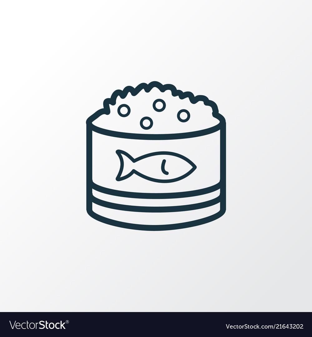 Caviar icon line symbol premium quality isolated
