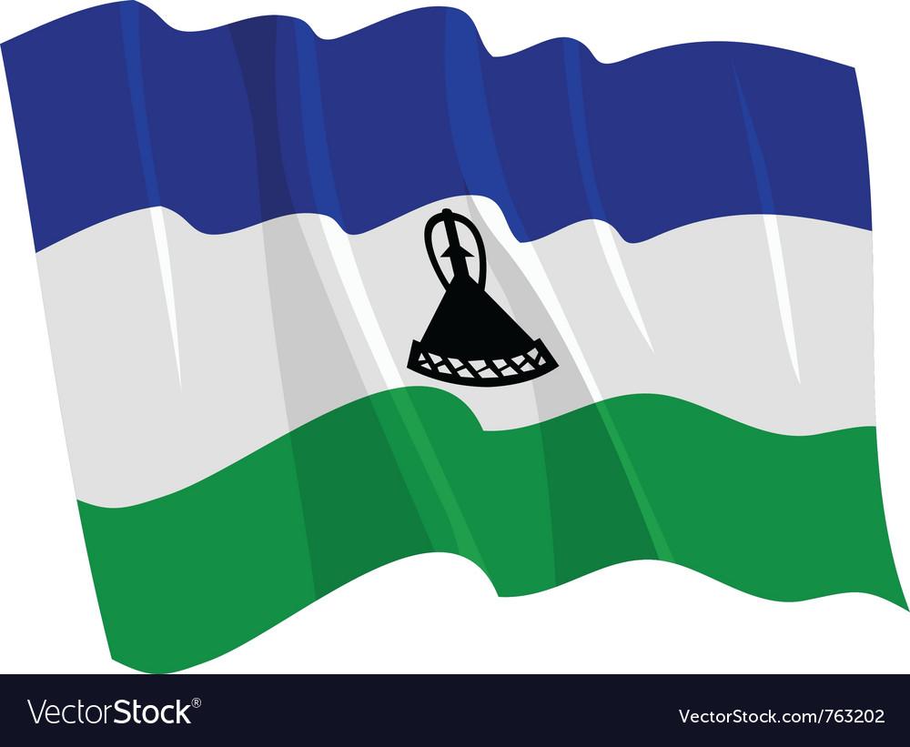 Political waving flag of lesotho