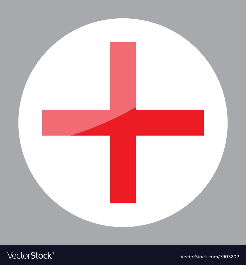 Sign Red Cross Hospital Clinic Symbol Royalty Free Vector