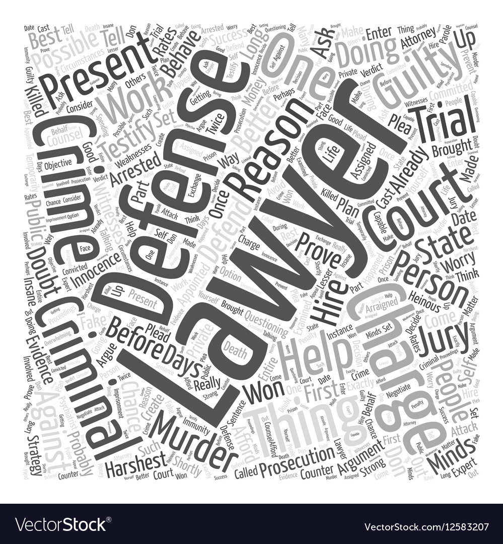A Criminal Defense Lawyer Can Help You Defend
