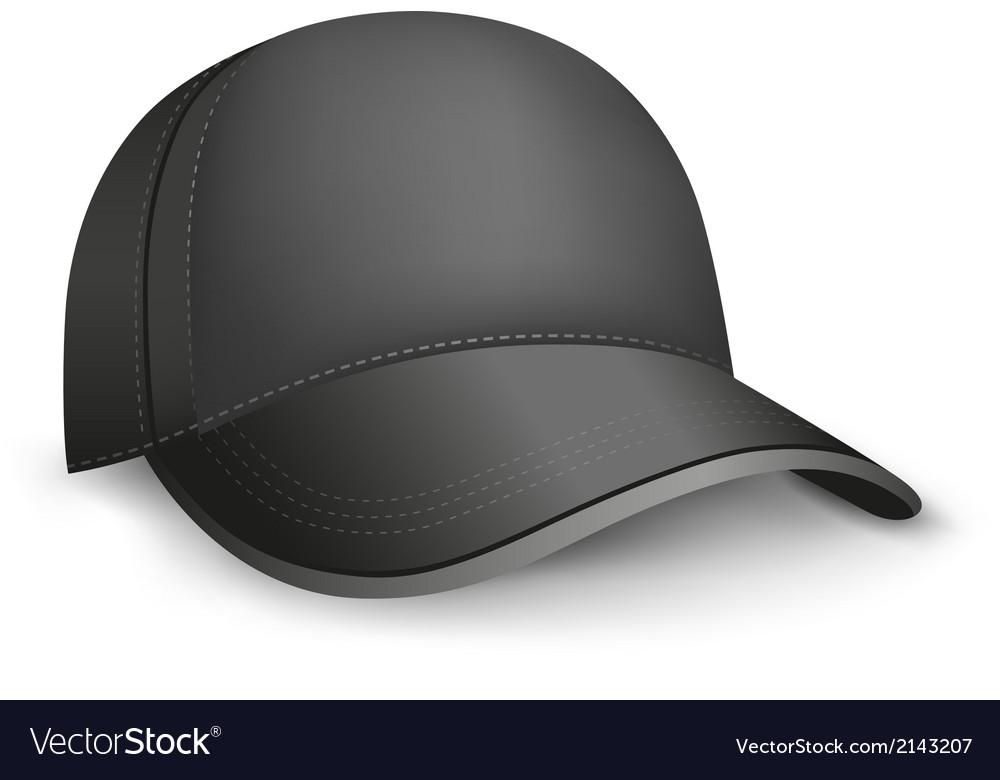 Black cap vector image