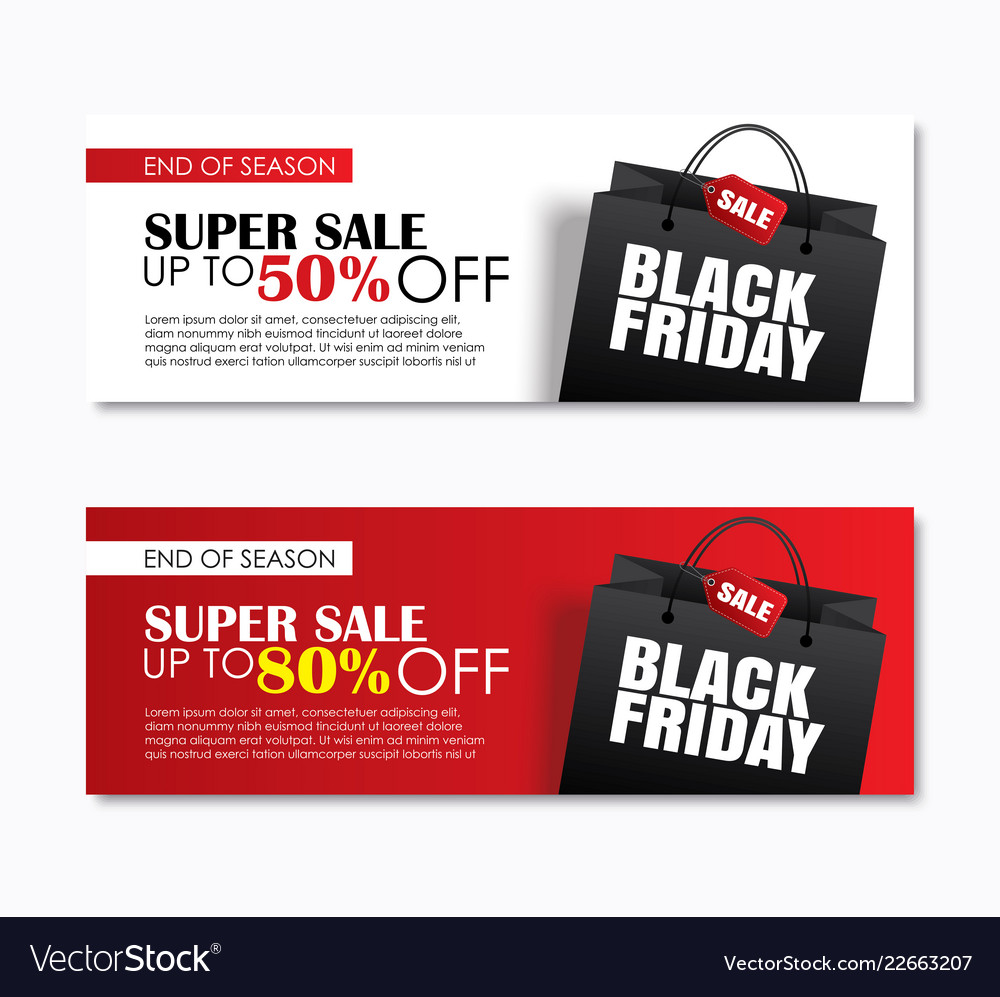 Black friday sale shopping bag cover and web