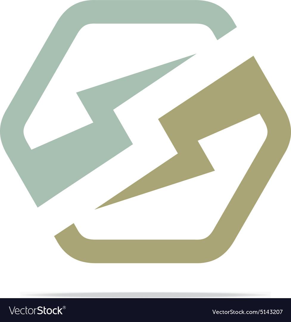 Electricity power icon design symbol logo abstract vector image on VectorStock