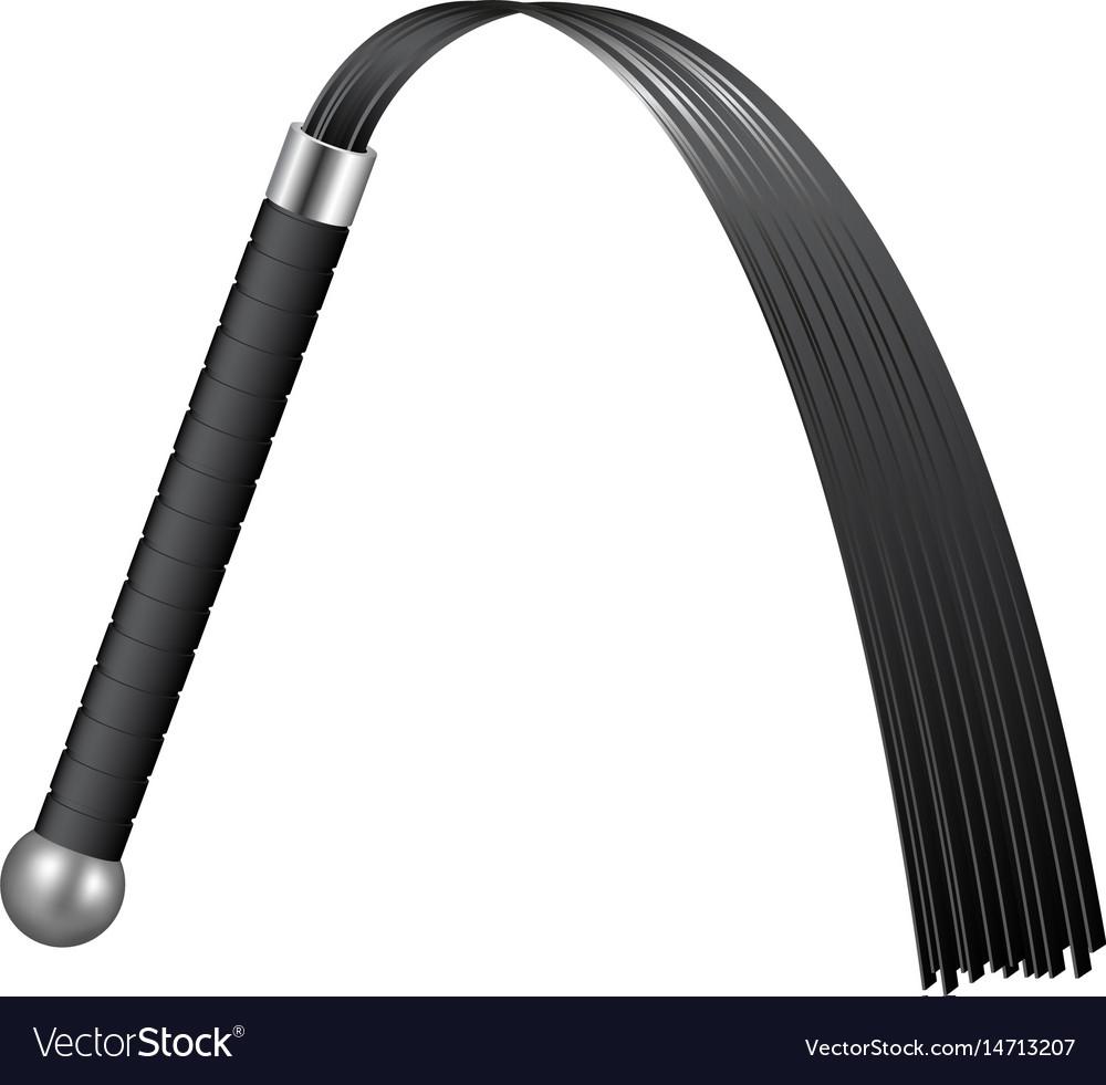 Whip in black design