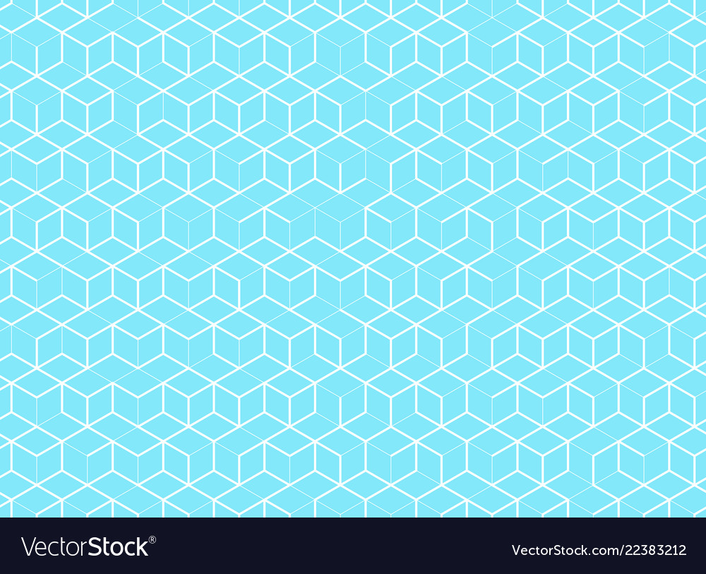Abstract cube pattern on blue background digital