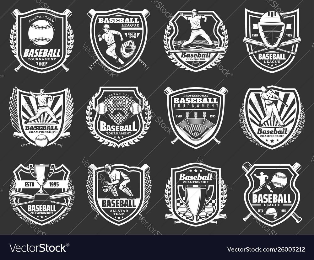 Baseball sport ball bat player trophy badges