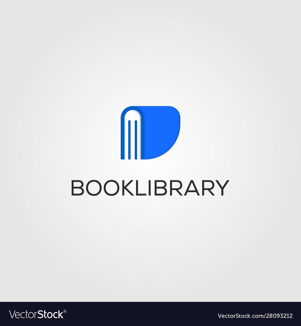 Book library logo store design