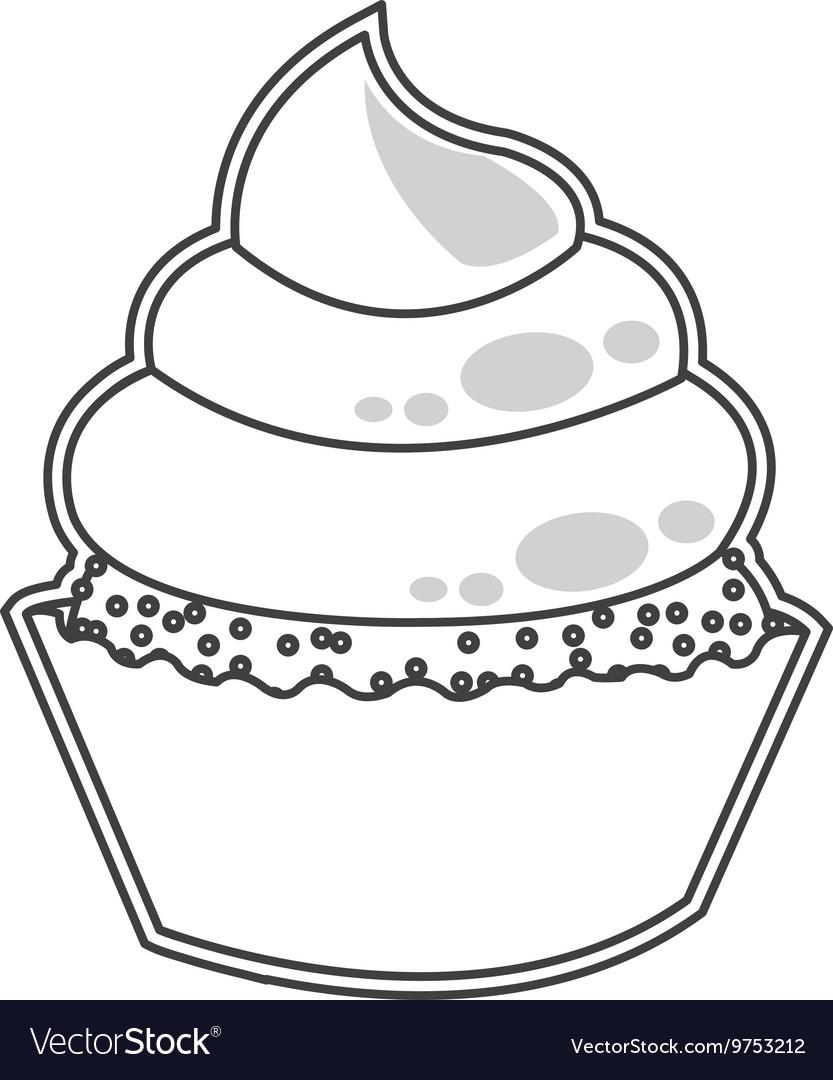 Cute cupcake dessert cake