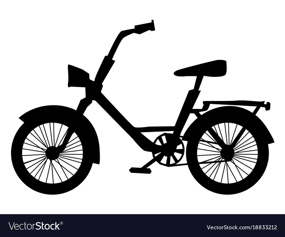 Silhouette of bicycle vector image