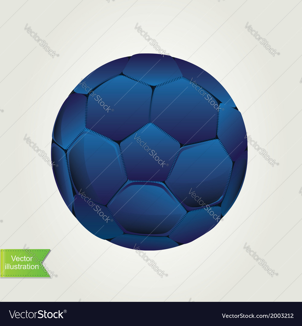 Soccer ball isolated vector image