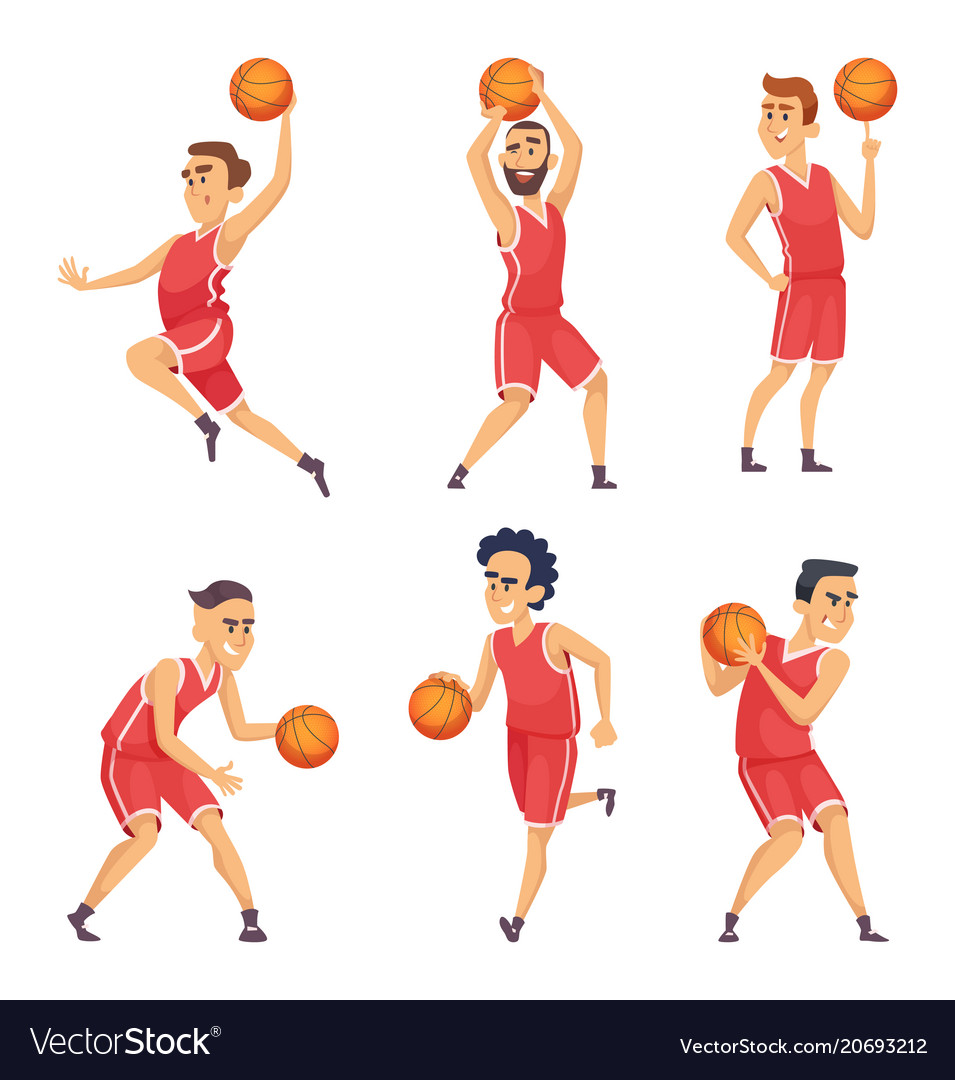 Sport characters set of basketball