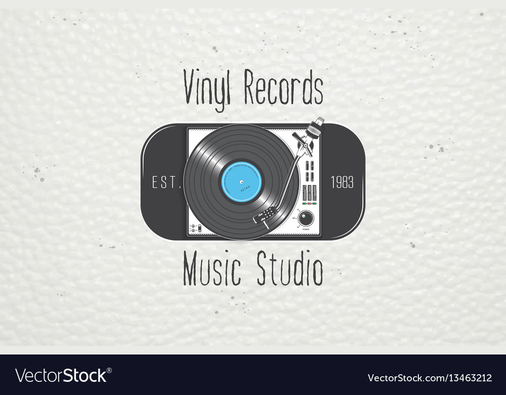 Vinyl record music in the studio detailed