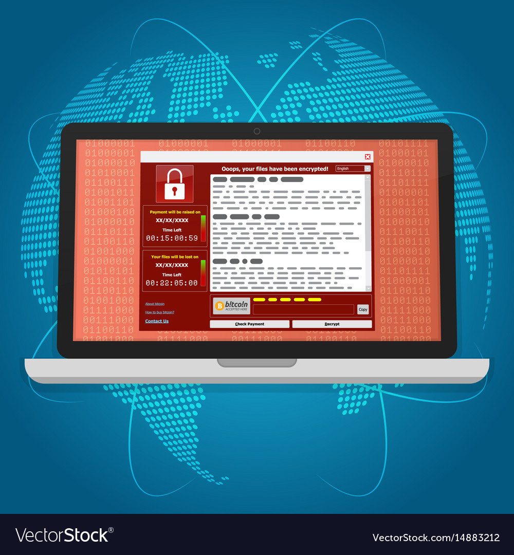 Virus malware ransomware wannacry encrypted your