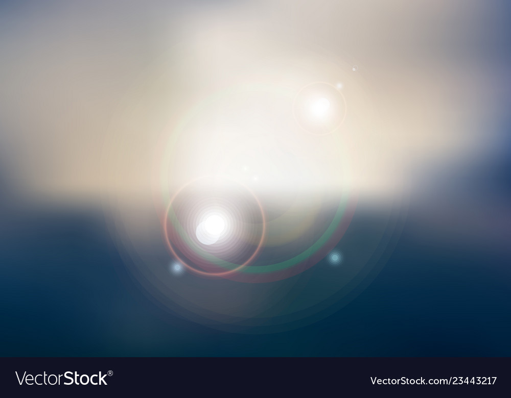 Abstract sunset or sunrise sky and sun shining