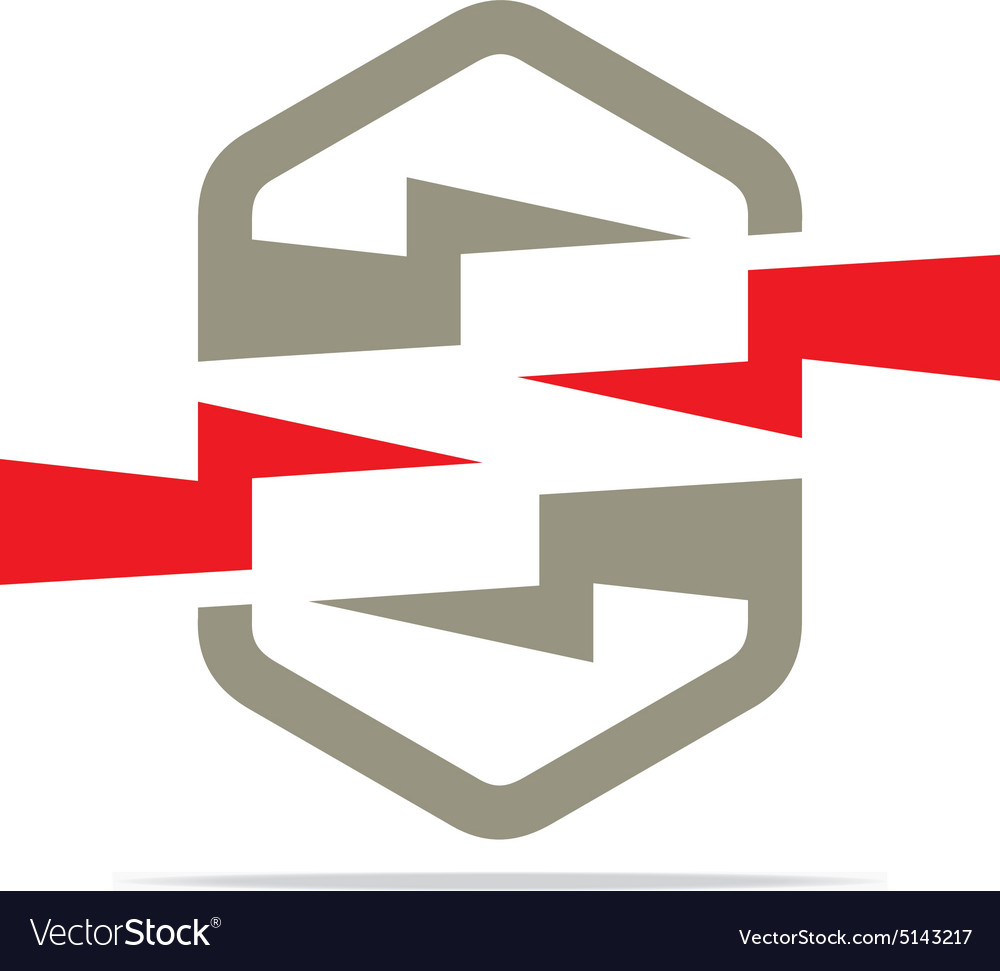 Electricity power icon design symbol abstract vector image on VectorStock