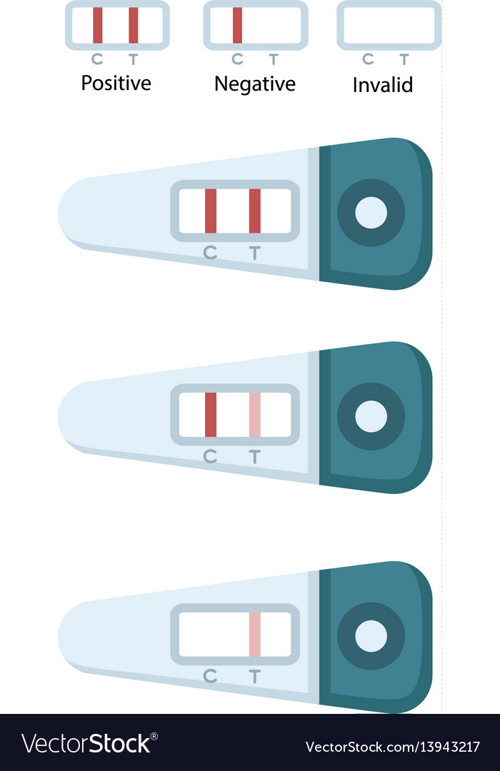 Positive And Negative Pregnancy Tests Royalty Free Vector