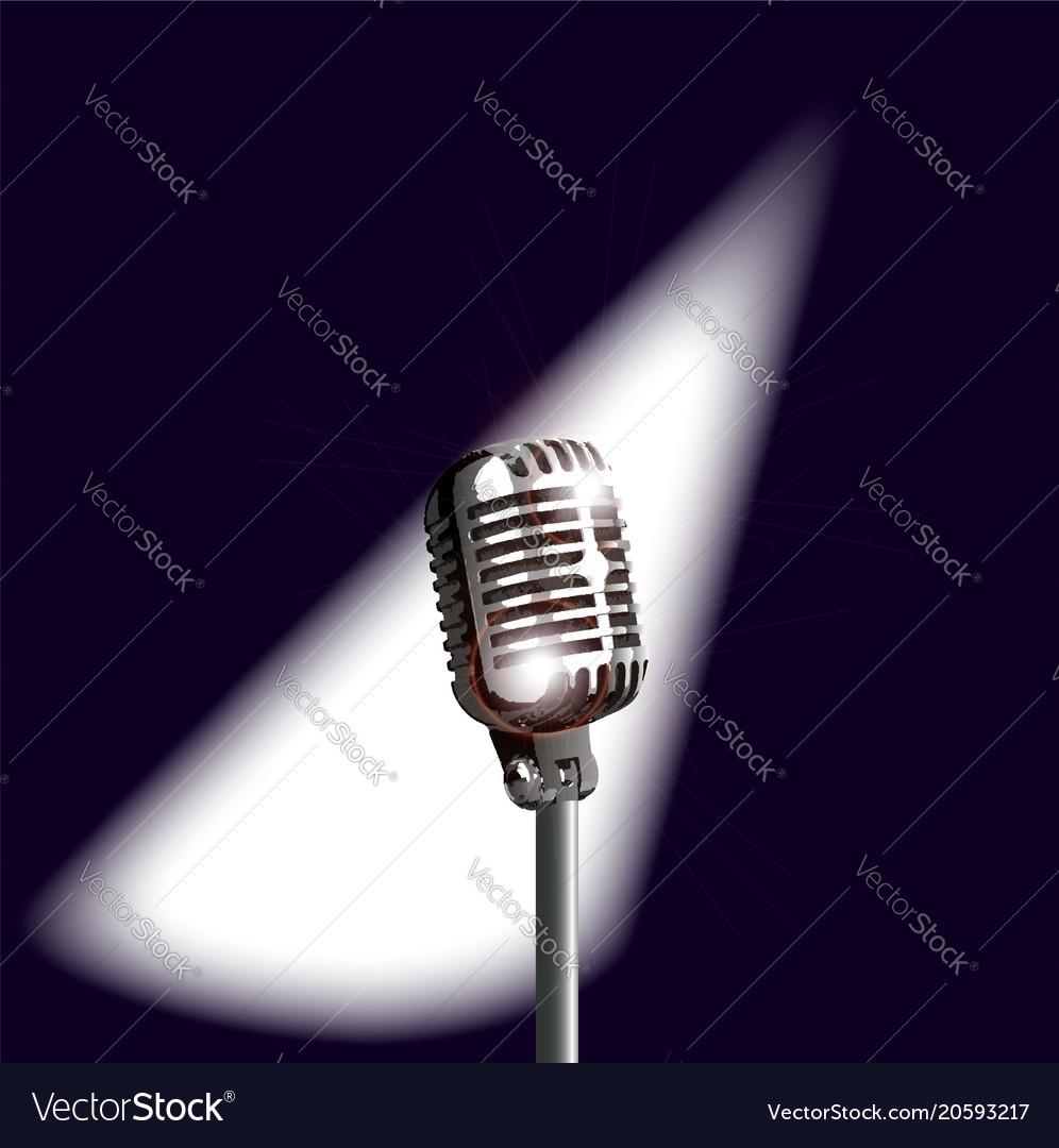 Retro stage microphone