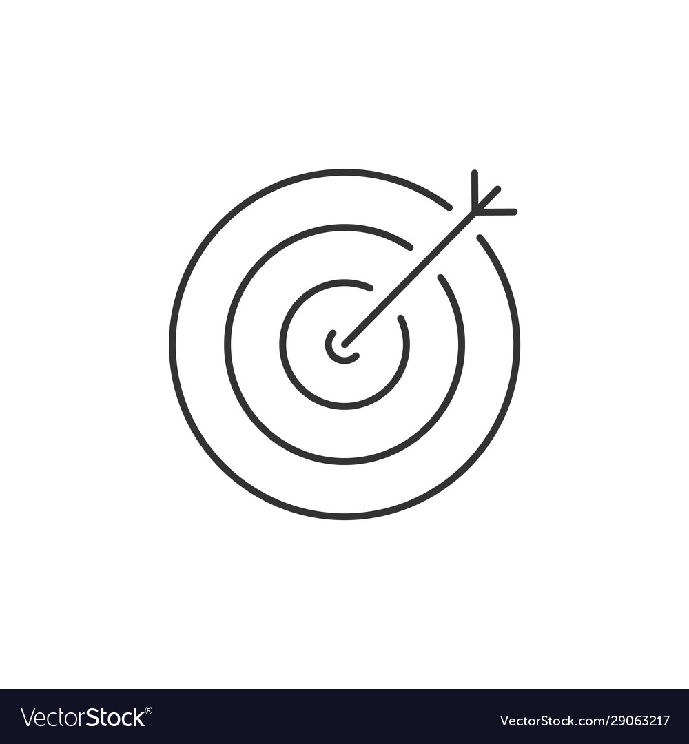 Target with an arrow inside linear icon