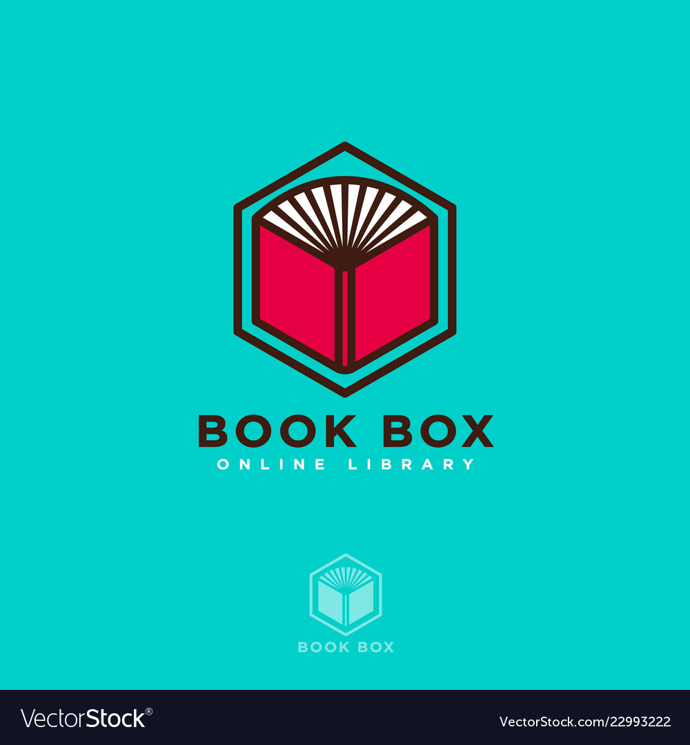 Book box logo online read digital library