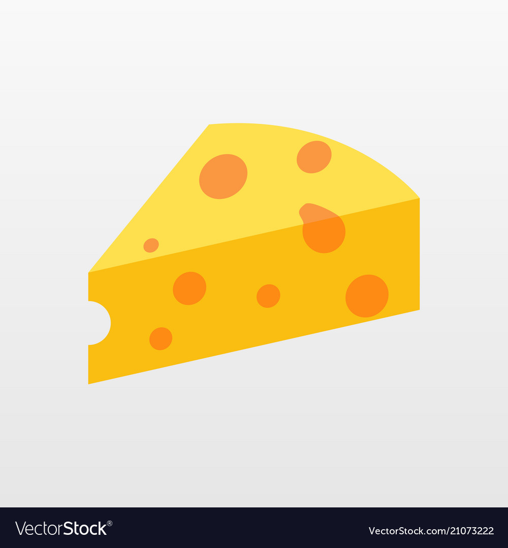 Color cheese icon isolated on background modern f
