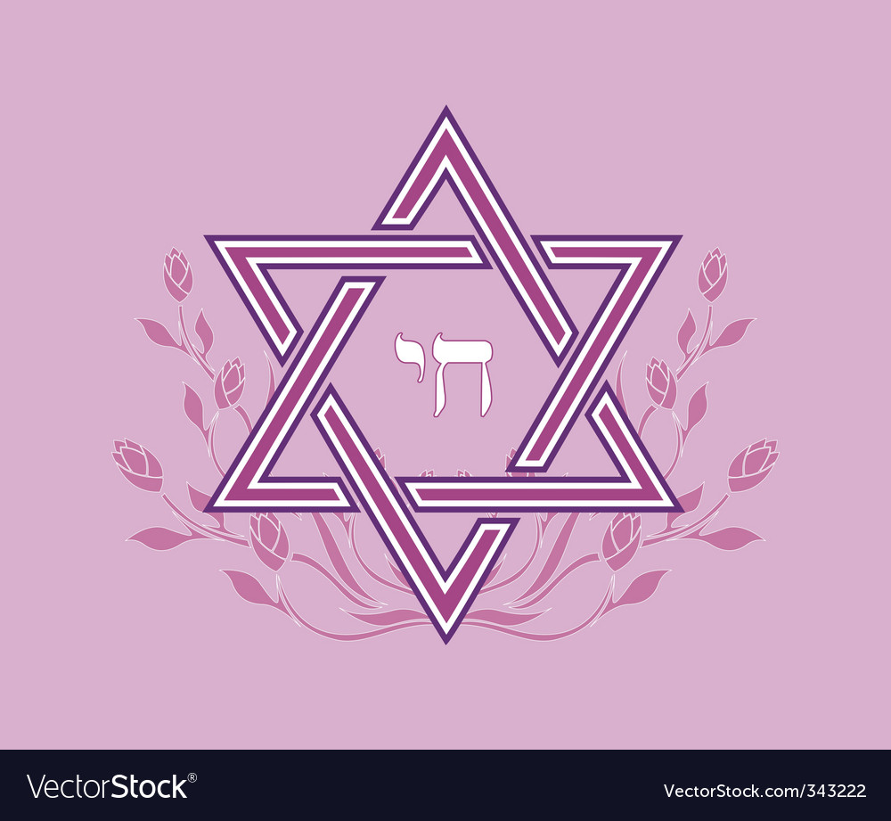 Jewish star design vector image