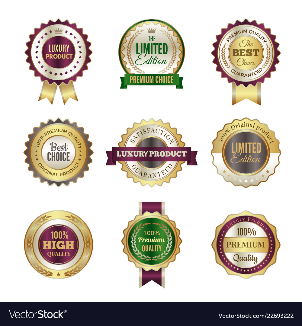 Luxury premium badges high quality golden crown