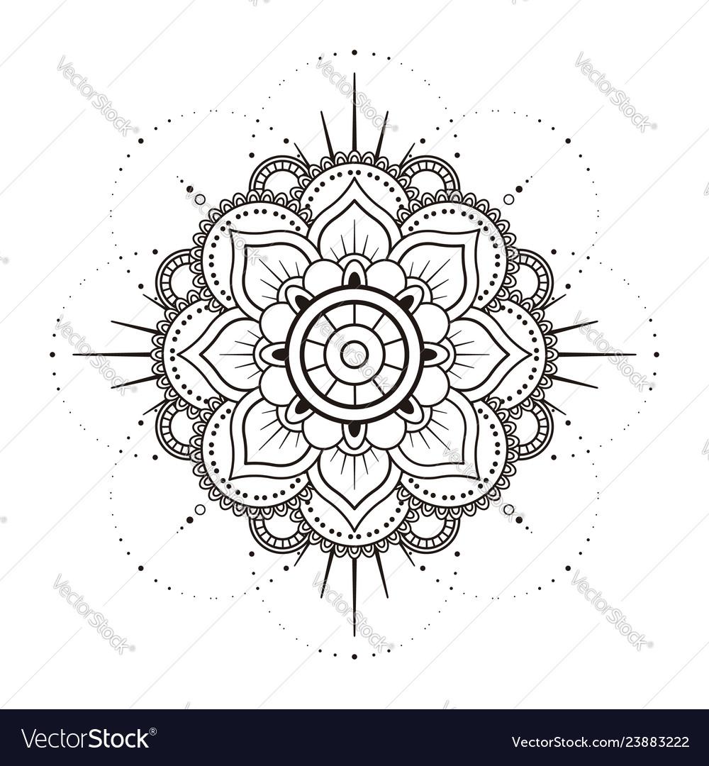 Mandala in black and white