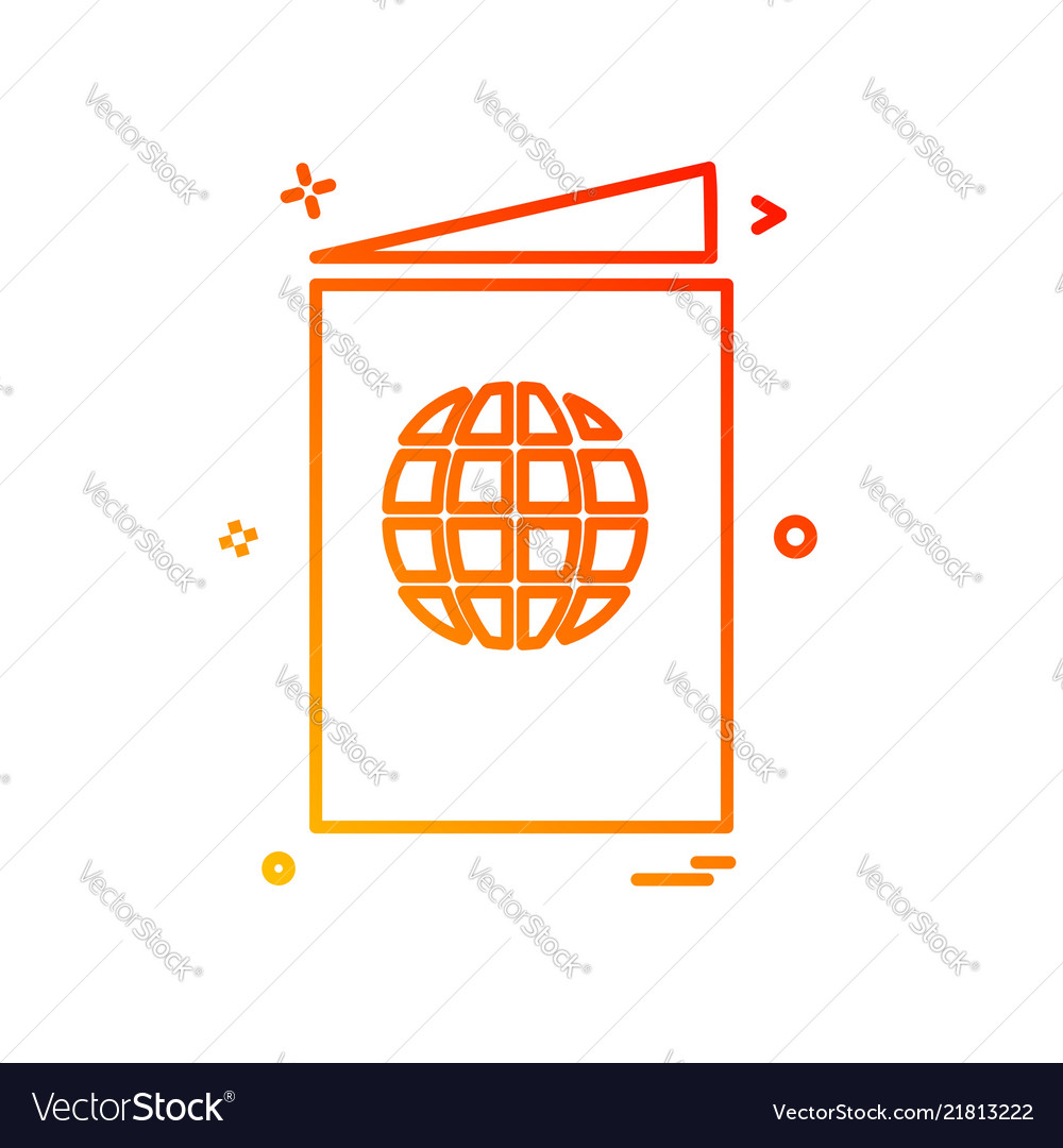 Passport icon design