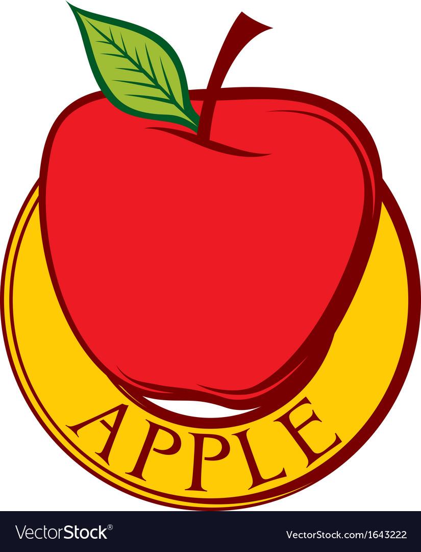 Red apple label design