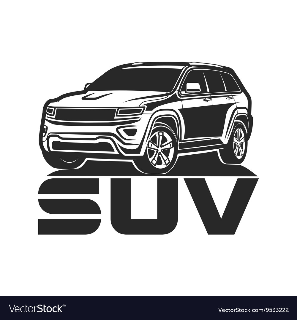 Suv car Icon logo design vector image