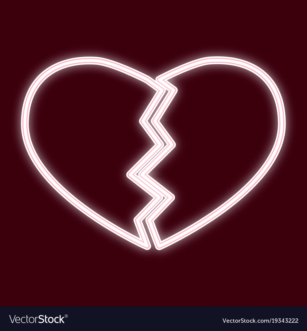 The image of a broken heart vector image