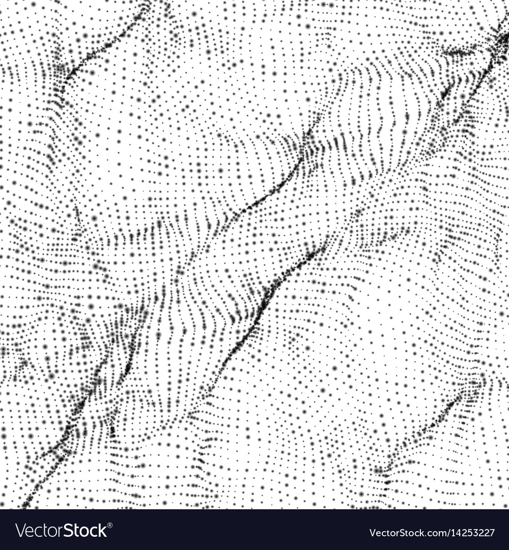 Abstract monochrome wave mesh