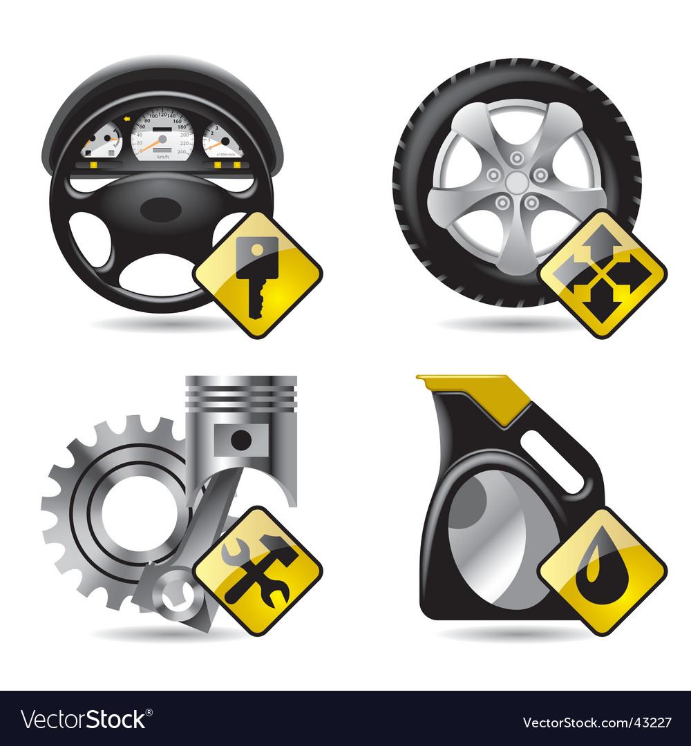 Automobile service icons