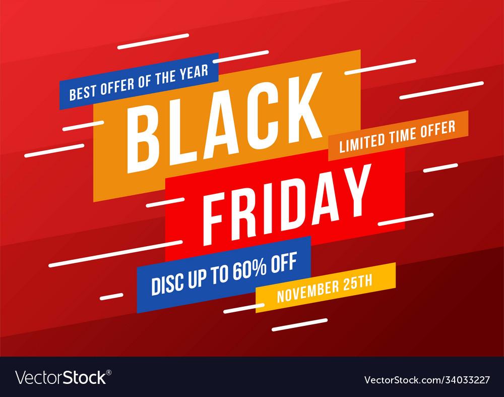 Black friday sale banner layout background