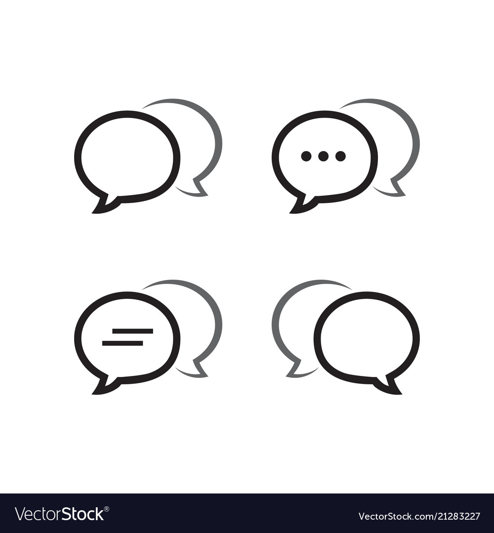 Bubble chat outline icon pack