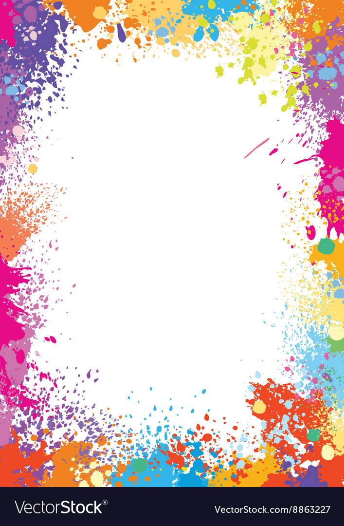 frame template made of paint stains royalty free vector