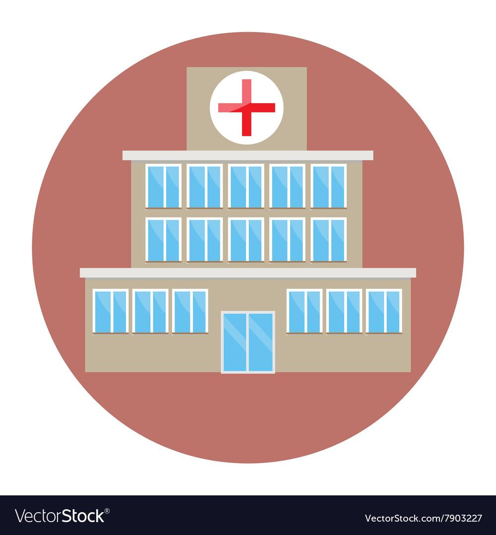 Hospital building icon flat