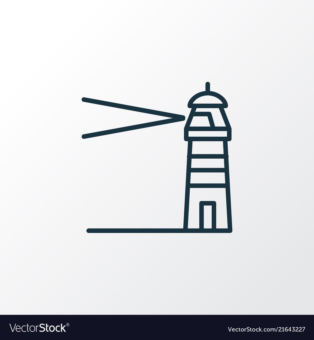 Lighthouse icon line symbol premium quality