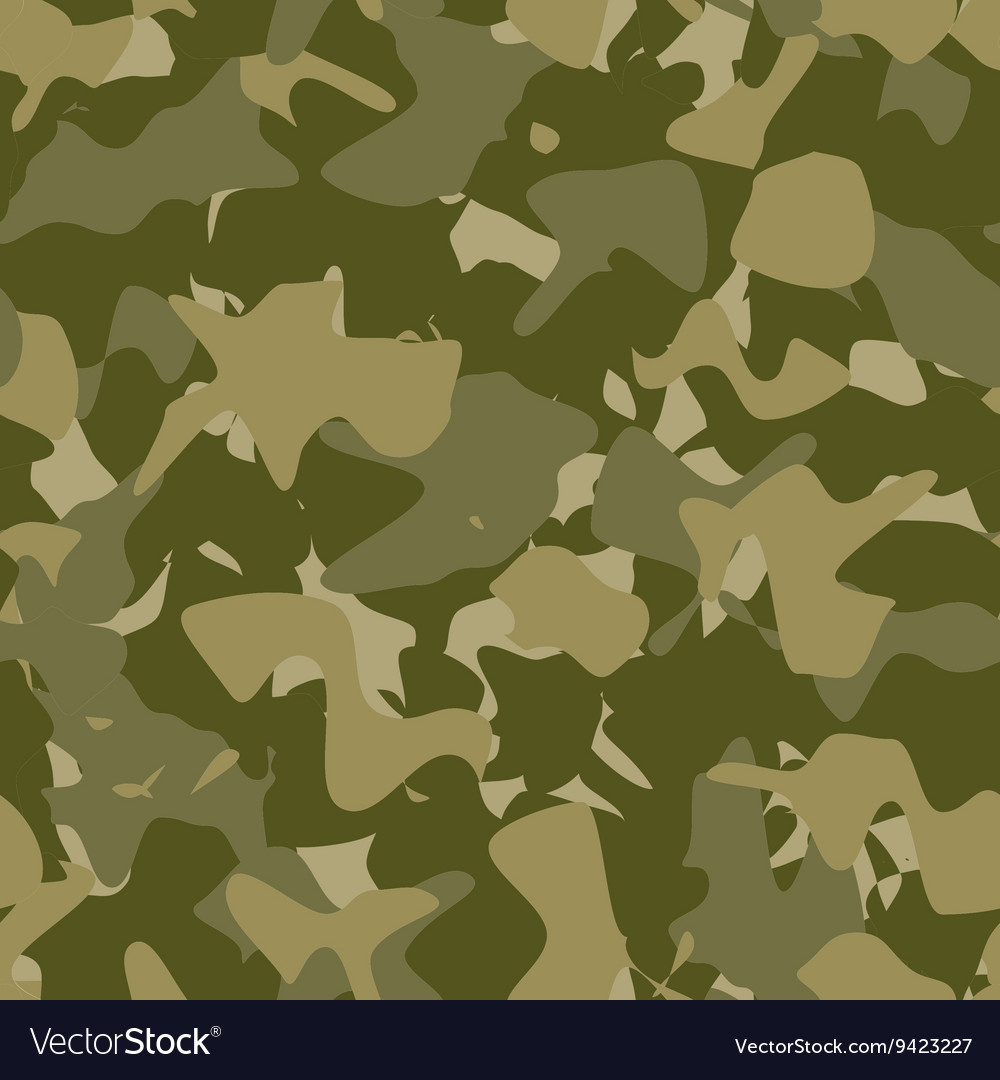 Military fashion seamless pattern