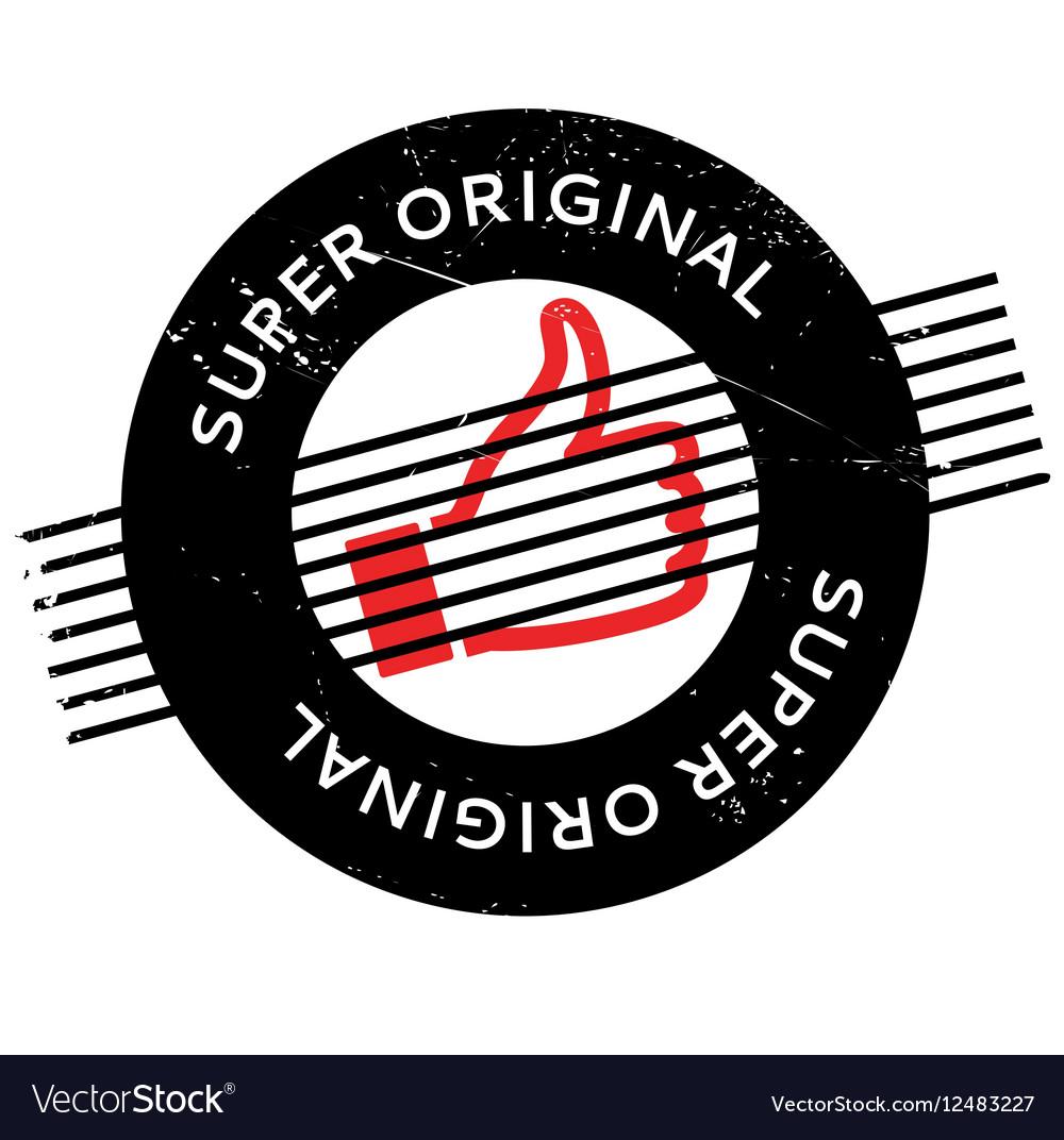 Super Original rubber stamp