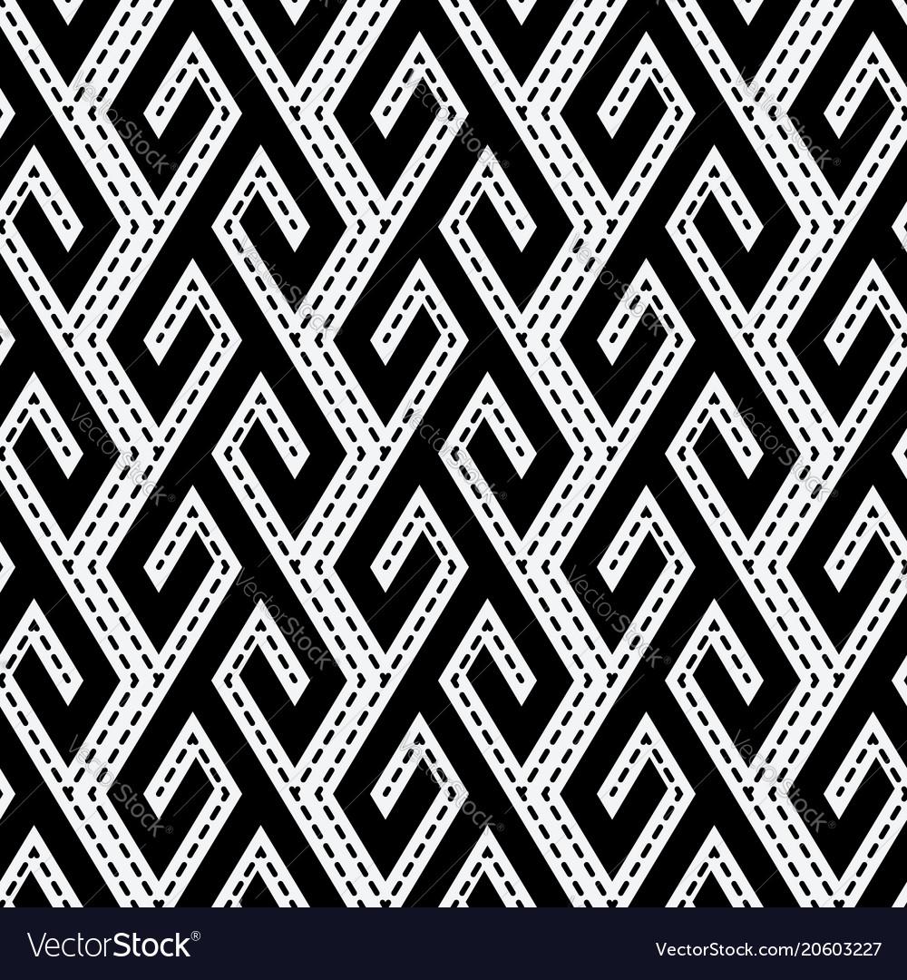 Tribal ethnic monochrome seamless pattern