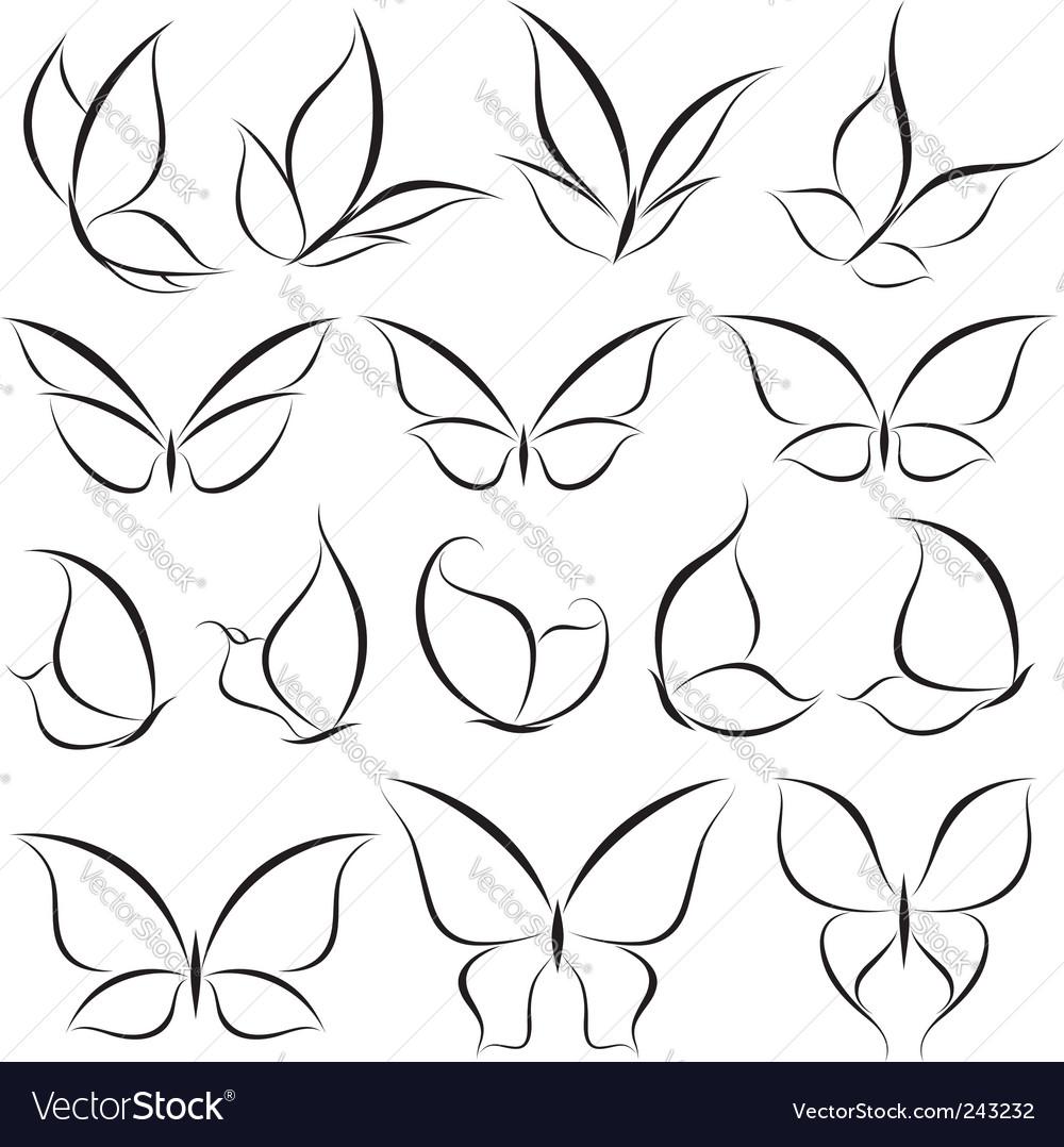 Butterflies elements